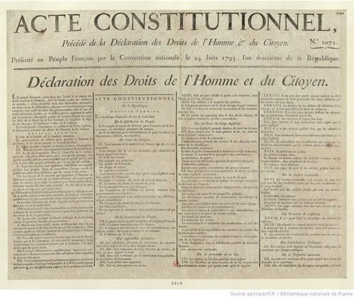 Constitution de l'An I - Première République du 24 juin 1793