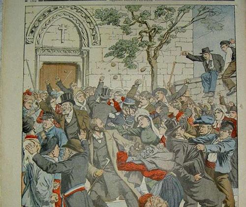 Le petit journal : inventaire bataille entre les magistrats et la population