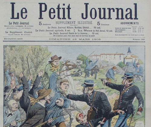 Une Petit Journal : inventaires dans les départements, graves conflits